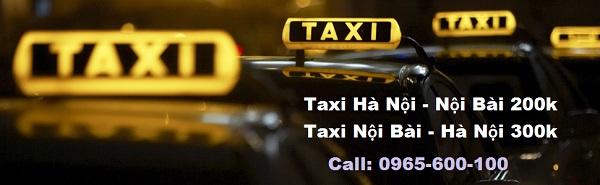 Giá taxi sân bay nội bài