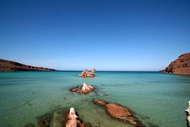 Khu cắm trại Baja nằm trong khu bảo tồn thiên nhiên Isle of Espiritu
